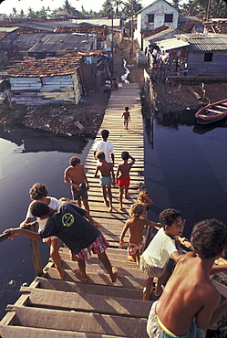 Brazil the favela of peixhinos, recife