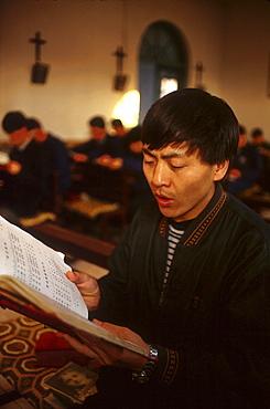 China catholic seminarians at st. Francis seminary, jilin