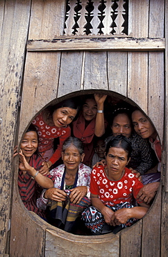 Cambodia midwives pause for a photograph during a training course at tahoey village, ratanakiri. - 1194-1740