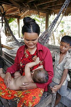 Cambodia immunisation clinic for babies at chumpou voan, kampot province.