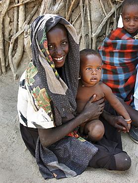 Watatulu tribal children at home, tanzania. Mwankale