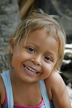 Honduras girl smilling. slum barrio of chamelecon, pedro sula