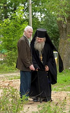 Russia priest, pechersky caves monastery, pskov district, founded on august 28th 1473 by saint jonah sheshnik