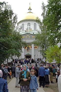 Russia pechersky monastery, near pskov.