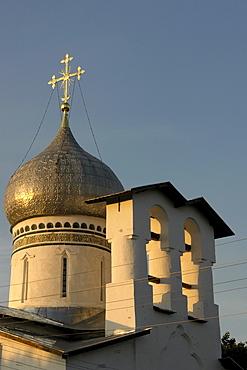 Russia detail of a church in pskov