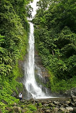 Indonesia waterfall near bedugal, bali