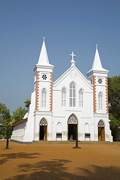 India. Niranam syrian orthodox church, one of eight founded by st. Thomas after 52 ad, kerala. The new gothic church, early 20th century. In the footsteps of saint thomas: visiting the eight churches founded by the apostle in kerala after he arrived in 52 ad