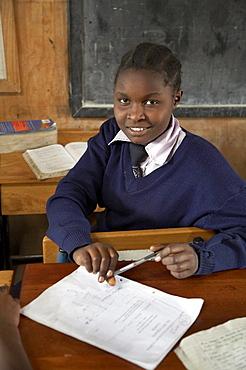 Kenya. Christ the king catholic secondary school, kibera, a slum of nairobi