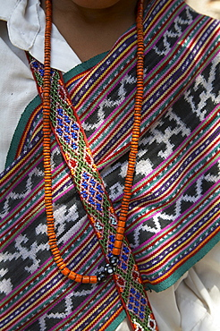 East timor detail of traditional ikat weave, oecussi-ambeno