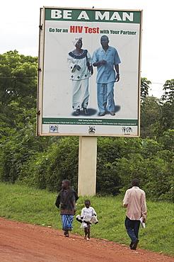 Uganda get an aids test! Sign. village of kayunga distric