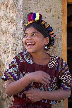Guatemala child of chajul, laughing, el quiche