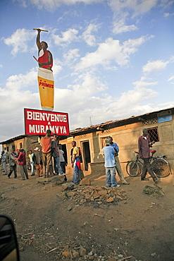 Burundi beer advert in a village of gitera.