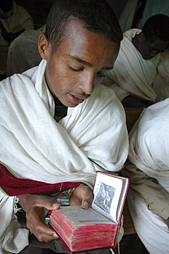 Religion, ethiopia. Orphan boys who are studying to be orthodox seminarians, ambo