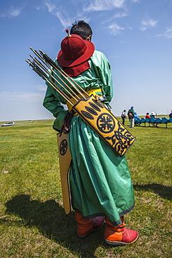 Archery at Naadam Festival, Mongolia, Central Asia, Asia