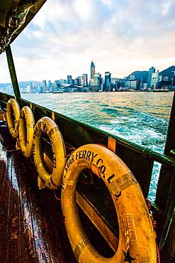Hong Kong skyline with Star Ferry, Hong Kong, China, Asia