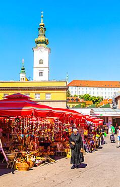 Dolac, market square, Zagreb, Croatia, Europe