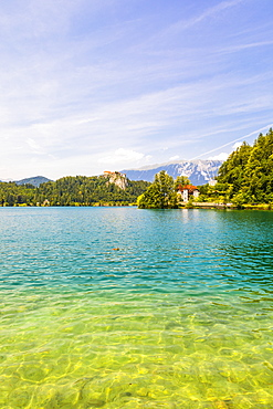 Lake Bled and Bled Castle, Slovenia, Europe
