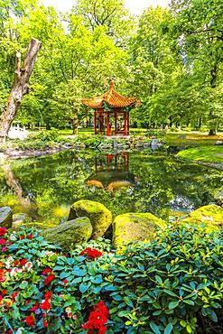 Japanese Garden, Lazienki Park, Warsaw, Poland, Europe