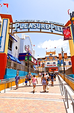 Historic Pleasure Pier, Galveston, Texas, United States of America, North America