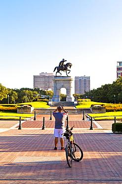 Hermann Park, Sam Houston monument, Houston, Texas, United States of America, North America