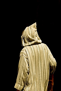 Man in traditional jalaba, Tangier, Morocco, North Africa, Africa