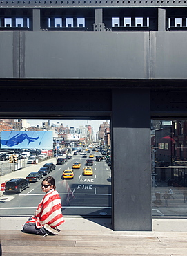 On the High Line in Chelsea, New York City, United States of America, North America