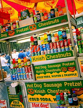 Soda stand, New York City, United States of America, North America