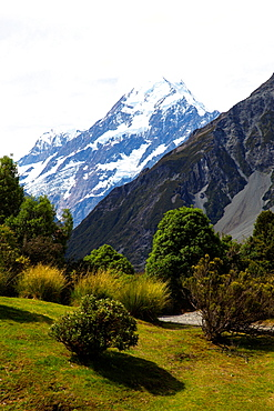 Aoraki/Mount Cook National Park, UNESCO World Heritage Site, Southern Alps, South Canterbury, South Island, New Zealand, Pacific
