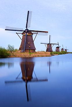 Kinderdijk windmill, UNESCO World Heritage Site, The Netherlands, Europe