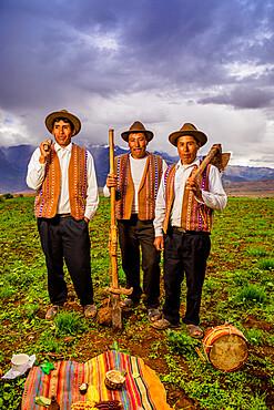 Quechua men of the Misminay Community, Sacred Valley, Peru, South America