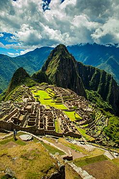 View of Machu Picchu ruins, UNESCO World Heritage Site, Peru, South America