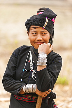 A woman from an ethnic minority called Enn in Shan State, Myanmar (Burma), Asia