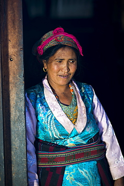 A Nepali woman from a small village called Briddim in the Tamang Heritage region close to Langtang, Nepal, Asia