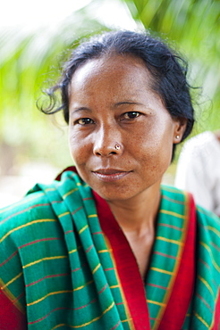 A woman from Rangamati wearing traditional clothes, Chittagong Hill Tracts, Bangladesh, Asia