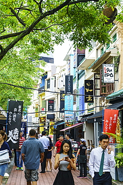 Bars and restaurants in Boat Quay, Singapore, Southeast Asia, Asia