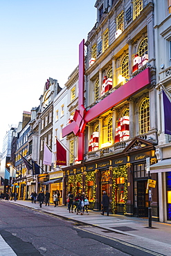 Cartier store decorated for Christmas, New Bond Street, London, England, United Kingdom, Europe