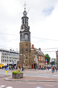 Munttoren (Munt Tower), Muntplein, Amsterdam, North Holland, The Netherlands, Europe