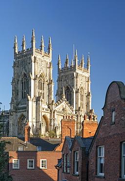 York Minster west bell towers, York, North Yorkshire, England, United Kingdom, Europe