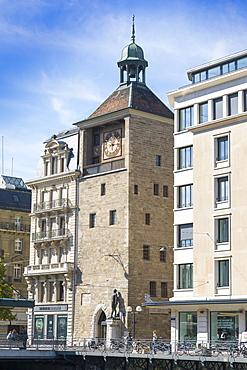 Tour de L'ile (Clock Tower), Geneva, Switzerland, Europe