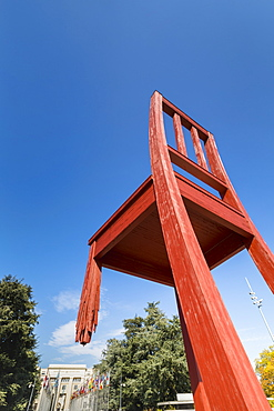 Broken Chair monument, Place des Nations, Geneva, Switzerland, Europe