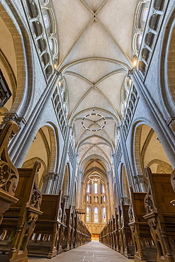 Interior of St. Peter's Cathedral, Geneva, Switzerland, Europe
