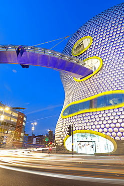 Selfridges Building at dusk, Birmingham, England, United Kingdom, Europe