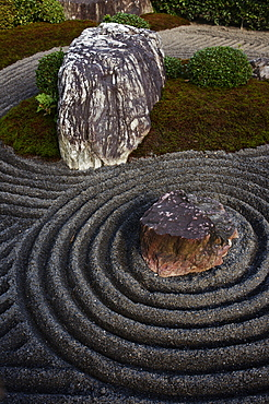 Taizo-in temple rock garden, Kyoto, Japan, Asia
