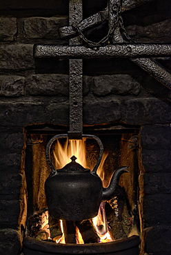 Cottage Fireplace, County Cork, Munster, Republic of Ireland, Europe