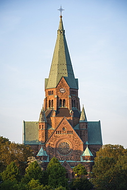 Sofia Church at sunset, Nytorget, Stockholm, Sweden, Scandinavia, Europe