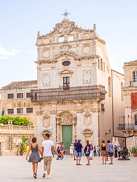 Church of Santa Lucia, Ortygia, UNESCO World Heritage Site, Syracuse (Siracusa), Sicily, Italy, Europe