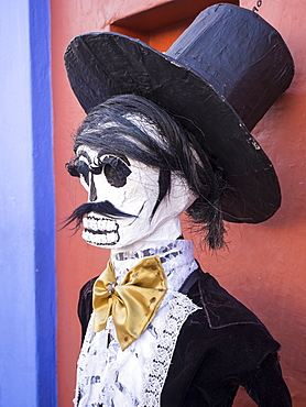 Decorations for the Day of the Dead (Dia de los Muertos), Oaxaca, Mexico, North America