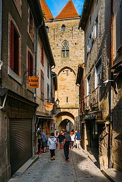 Narrow street, Carcassonne, UNESCO World Heritage Site, Languedoc, France, Europe