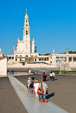 Religious pilgrims at the Sanctuary of Fatima (Basilica of Our Lady of Fatima), Portugal, Europe