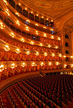 Interior view of Teatro Colon and its Concert Hall, Buenos Aires, Buenos Aires Province, Argentina, South America